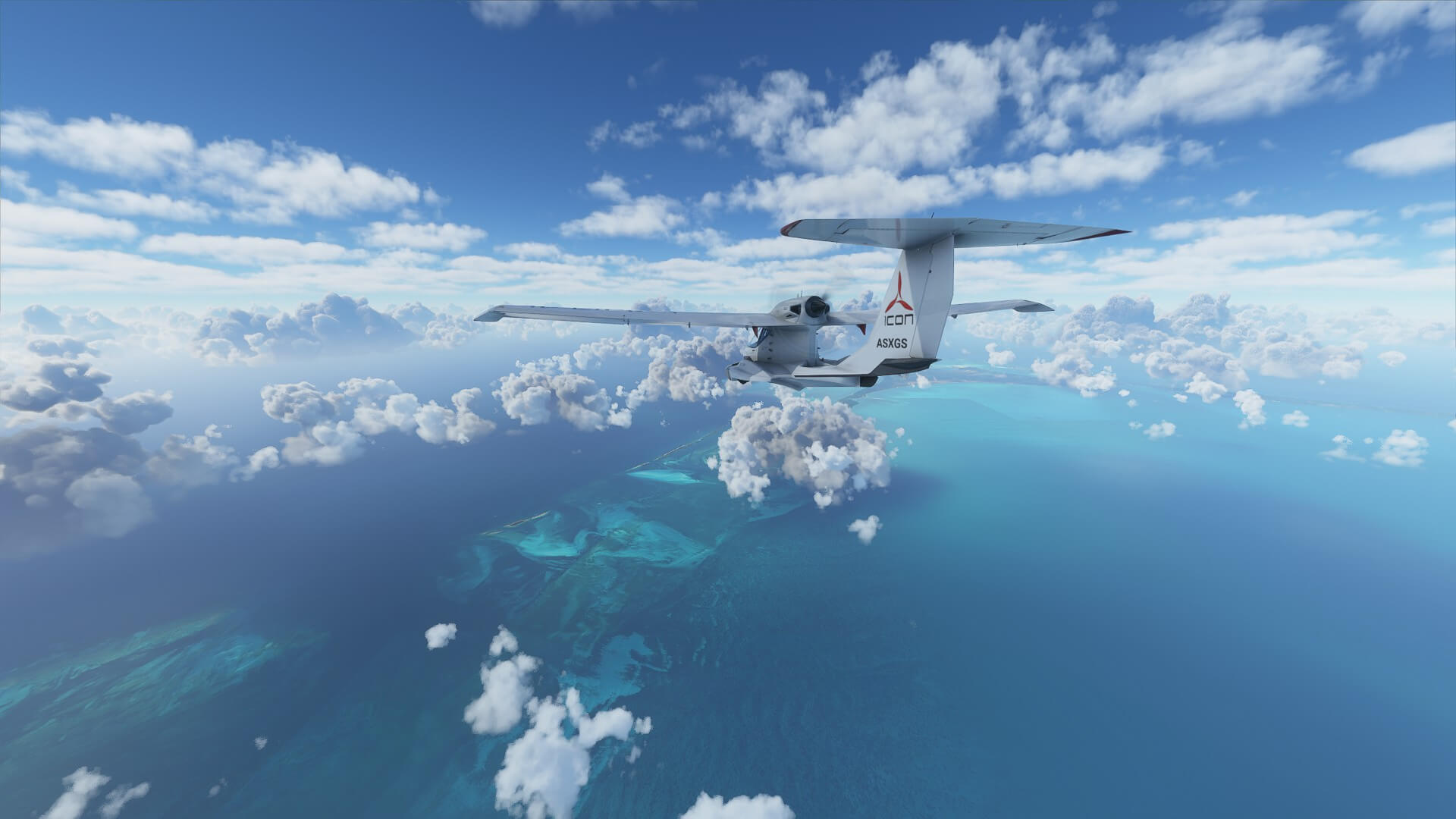 Float plane over water